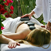 spa treatment hot stone