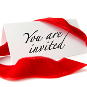 you are invited note ribbon